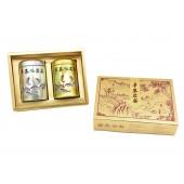 「華泰茶莊」凍頂烏龍茶 (品) 80g-銀罐+清茶 (香特) 40g-金罐