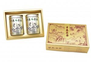 「華泰茶莊」凍頂烏龍茶 (品) 80g-銀罐+香片茶 (品特) 80g-銀罐