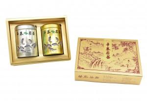 「華泰茶莊」凍頂烏龍茶 (品) 80g-銀罐+東方美人茶 (香特) 40g-金罐